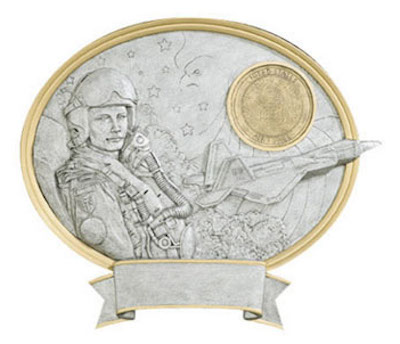 male air force oval legend resin