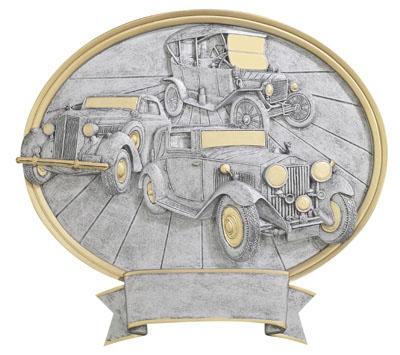 antique cars oval legend resin