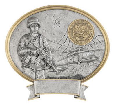 female army oval legend resin
