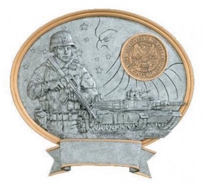 male army oval legend resin