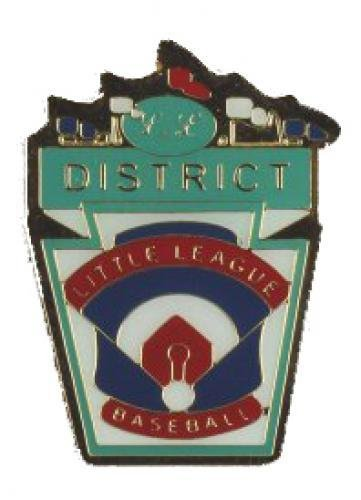 district little league baseball pin