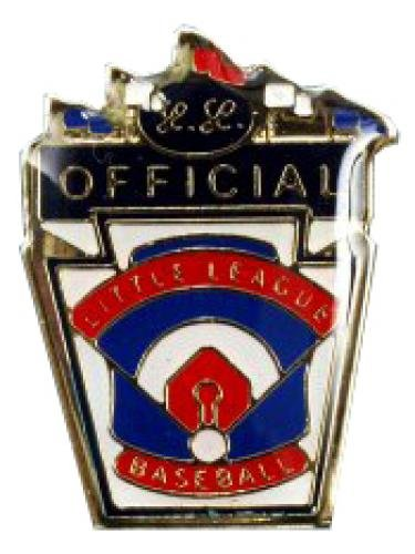 official little league baseball pin