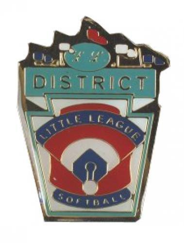 district little league softball pin