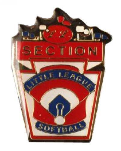 section little league softball pin