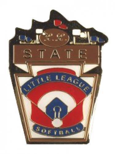state little league softball pin