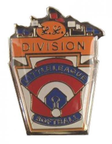 division little league softball pin