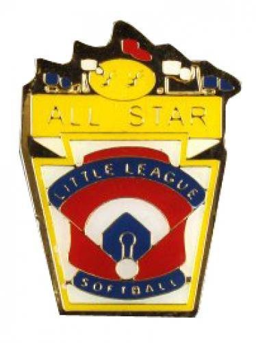 all star little league softball pin