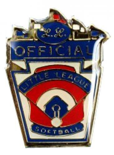 official little league softball pin