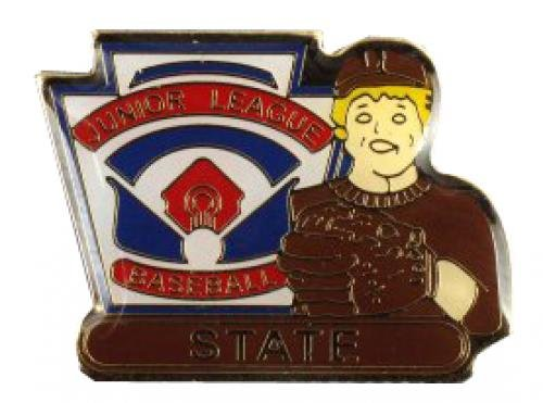 state junior league baseball pin