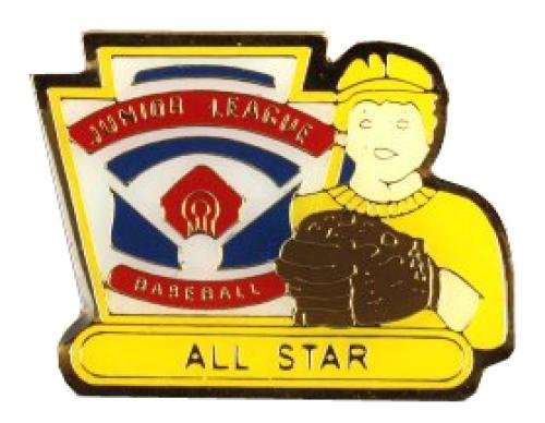 all star junior league baseball pin