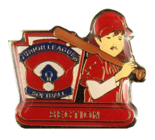 section junior league softball pin