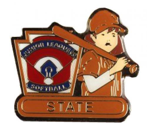 state junior league softball pin
