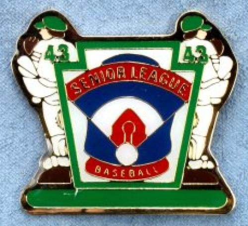 senior league baseball pin