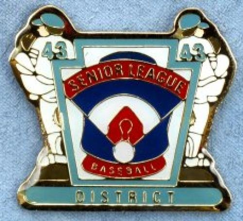 district senior league baseball pin