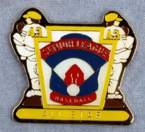 all star senior league baseball pin