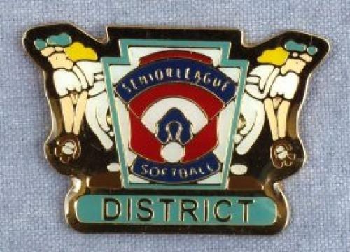 district senior league softball pin