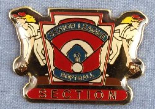 section senior league softball pin