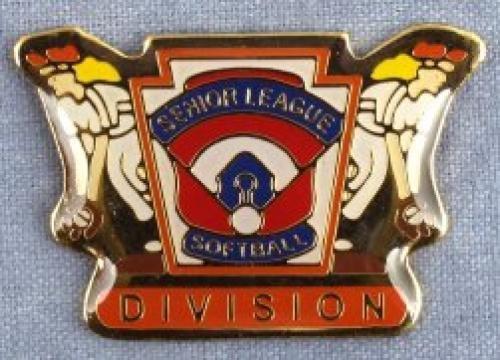 division senior league softball pin