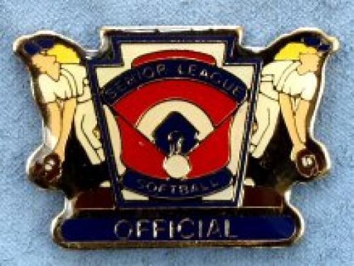 official senior league softball pin