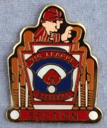 section big league baseball pin