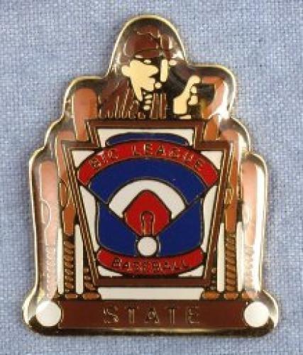 state big league baseball pin