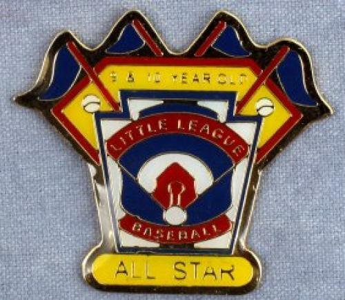 all star 9-10 year old baseball pin