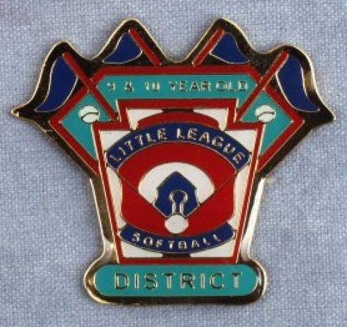 district 9-10 year old softball pin