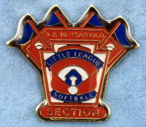 section 9-10 year old softball pin