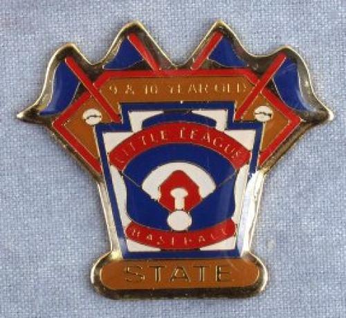 state 9-10 year old softball pin
