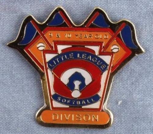 division 9-10 year old softball pin
