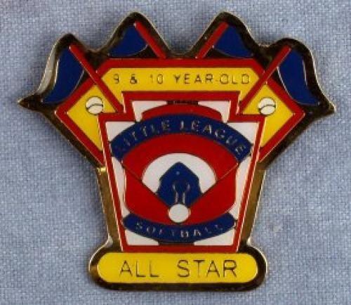 all star 9-10 year old softball pin