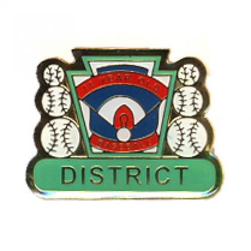district 11 year old baseball pin