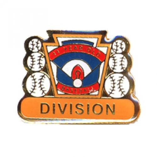division 11 year old baseball pin