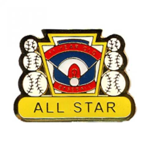 all star 11 year old baseball pin