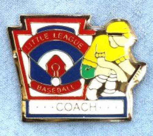 coach little league pin