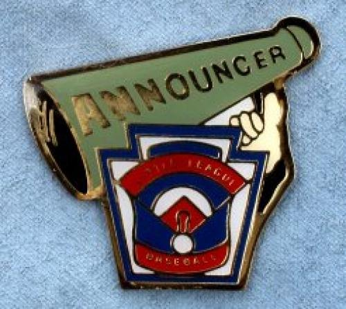 announcer little league pin