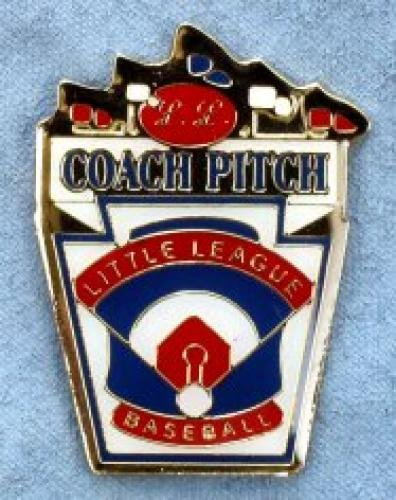coach pitch little league pin