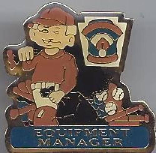 equipment manager little league pin