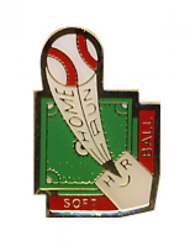 homerun softball pin