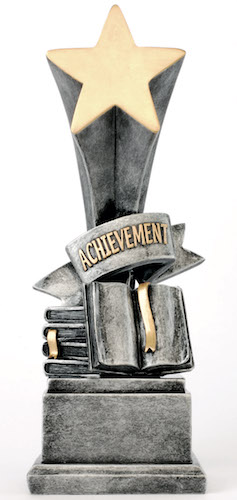 achievement star award resin