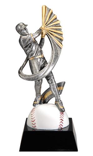 baseball motion swoosh resin
