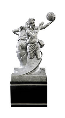 female basketball double action resin