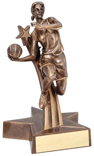 female basketball super star resin