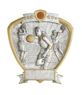female basketball signature shield resin