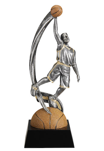 male basketball motion swoosh resin