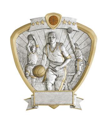 male basketball signature shield resin