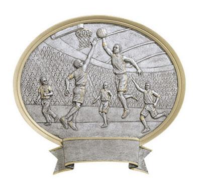 male basketball oval legend resin