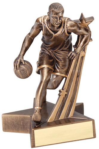 male basketball super star resin