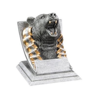 bear mascot resin