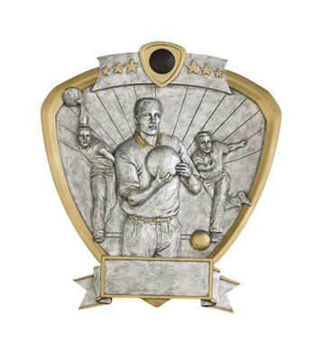 male bowling signature shield resin